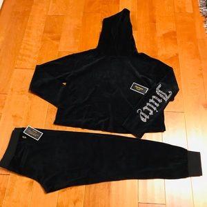 Juicy Couture crystal logo hoodie & pant M